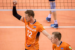 28-05-2017 NED: 2018 FIVB Volleyball World Championship qualification day 5, Apeldoorn<br /> Nederland - Slowakije / Kay van Dijk #12
