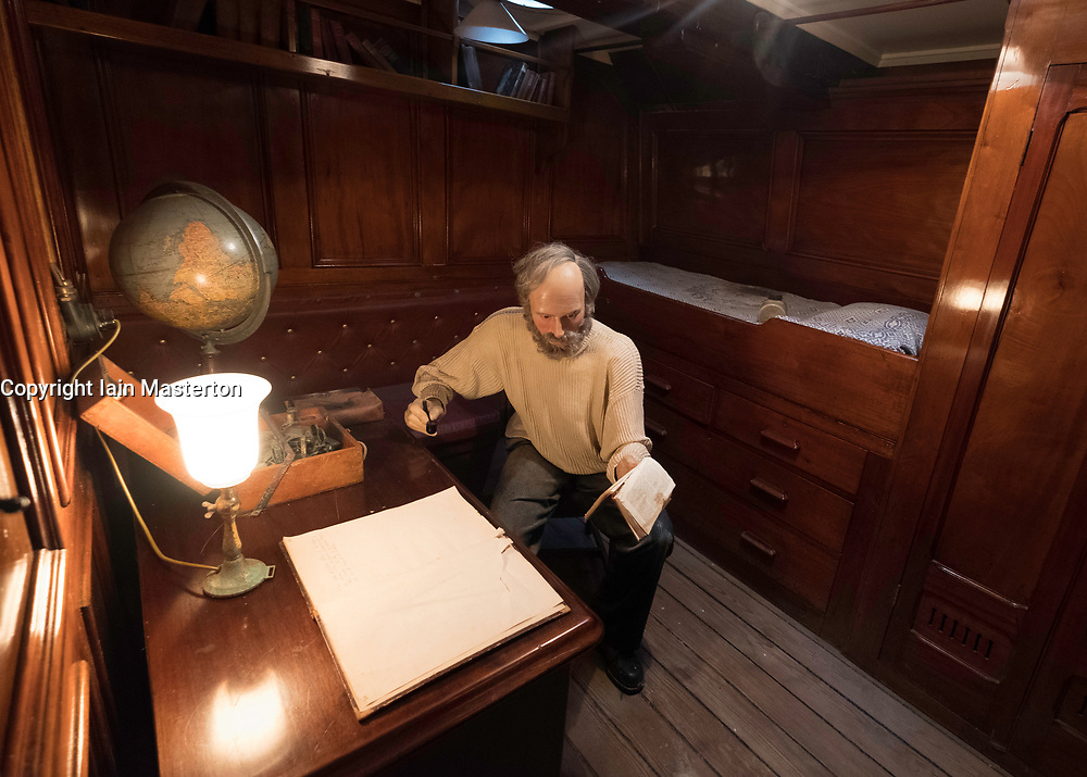Interior of officer's cabin on the RSS Discovery ship berthed at Discovery Point in Dundee ,Tayside, Scotland,
