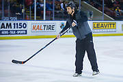 KELOWNA, CANADA - MARCH 22:  GRM at the Kelowna Rockets game on March 22, 2018 at Prospera Place in Kelowna, British Columbia, Canada.  (Photo By Cindy Rogers/Nyasa Photography,  *** Local Caption ***