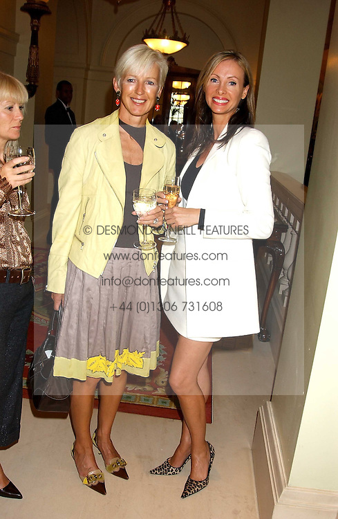 Left to right, MARIE JORDAN and BELINDA WILSON-PISKER at the CLIC Sargent's Yumy Mummy lunch held at The Lanesborough Hotel, Hyde Park Corner, London on 20th September 2005.<br /><br />NON EXCLUSIVE - WORLD RIGHTS