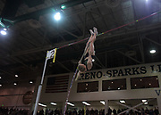 Jan 18, 2019; Reno, NV, USA; Katie Nageotte (USA) plaes second in the women's pole vault at 15-6 1/4 (4.75m) during the UCS Spirit National Pole Vault Summit at the Reno-Sparks  Livestock Events Center.