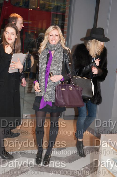 JENNY HALPERN; KIM HERSOV, Smythson Sloane St. Store opening. London. 6 February 2012.