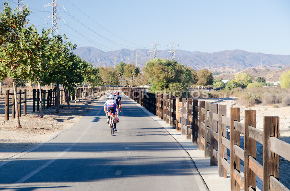 Bike Riders Out on Trail in Canyon Country Santa Clarita California