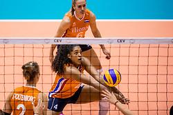 26-08-2017 NED: World Qualifications Netherlands - Slovenia, Rotterdam<br /> De Nederlandse volleybalsters plaatsten zich eenvoudig voor het WK volgend jaar in Japan. Ook Sloveni&euml; wordt met 3-0 verslagen / Celeste Plak #4 of Netherlands