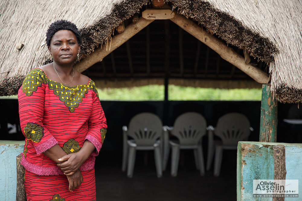 Kihouala Koné, 51, outside the restaurant she owns in the town of Katiola, Cote d'Ivoire on Friday July 12, 2013. Kihouala underwent FGM as a child. She encourages other women in her community to speak out about their experience to help end the practice.
