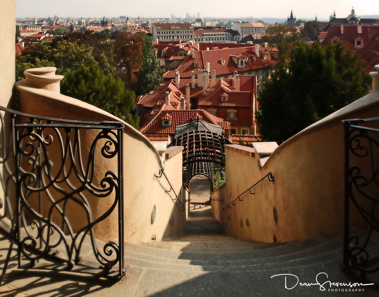 Stairs to Garden in Prague, Czech Republic