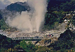 How can a place be so smelly but so awesome? <br /> Rotorua, a town set on its namesake lake on New Zealand's North Island.  It is renowned for its hot geysers, Maori culture, bubbling mud pools  . . . and the aroma of sulphur!