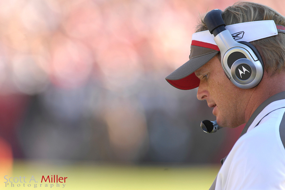Nov. 4, 2007; Tampa, FL, USA;  Tampa Bay Buccaneers coach Jon Gruden during the Bucs 17-10 win over the Arizona Cardinals at Raymond James Stadium. ...©2007 Scott A. Miller
