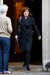 © Licensed to London News Pictures. 24/02/2015. LONDON, UK. Education Secretary Nicky Morgan attending to a cabinet meeting in Downing Street on Tuesday, 24 February 2015. Photo credit: Tolga Akmen/LNP
