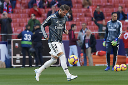 February 9, 2019 - Madrid, Madrid, Spain - Sergio Ramos of Real Madrid during the warm-up before during the week 23 of La Liga between Atletico Madrid and Real Madrid at Wanda Metropolitano stadium on February 09 2019, in Madrid, Spain. (Credit Image: © Jose Breton/NurPhoto via ZUMA Press)