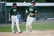 West Deptford's Chris Dillaquilla scores West Deptford's first run during a elimination bracket game of the Eastern Regional Senior League tournament held in West Deptford on Monday, August 8.