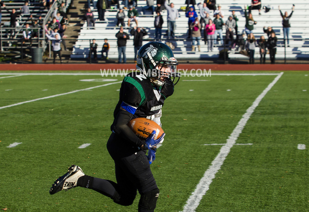 Newburgh, New York - Port Jervis plays Minisink Valley in the Orange County Youth Football League Division 2 Super Bowl at Goldback Field on Nov. 21, 2015.