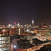 Empire State Building and New York skyline seen from Meatpack