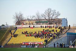 SOFIA, BULGARIA - Wednesday, November 26, 2014: Liverpool supporters during the UEFA Youth League Group B match against PFC Ludogorets Razgrad at the Georgi Asparuhov Stadium. (Pic by David Rawcliffe/Propaganda)