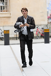© Licensed to London News Pictures. 23/07/2017. LONDON, UK.  JAMES SCHNEIDER, Head of Strategic Communications to Jeremy Corbyn arrives at BBC Broadcasting House to appear on the Andrew Marr Show.  Photo credit: Vickie Flores/LNP