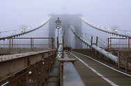 Fog on Brooklyn Bridge