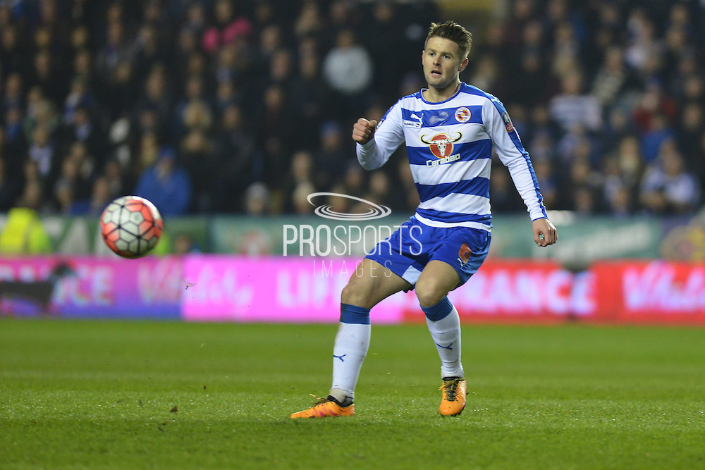 Reading FC midfielder Oliver Norwood during the The FA Cup Quarter Final match between Reading and Crystal Palace at the Madejski Stadium, Reading, England on 11 March 2016. Photo by Mark Davies.
