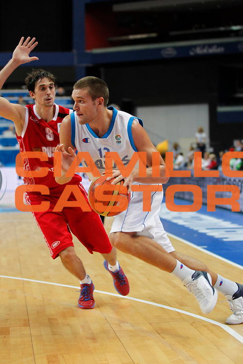 DESCRIZIONE : Vilnius Lithuania Lituania Eurobasket Men 2011 Second Round Grecia Russia Greece Russia<br /> GIOCATORE : Michail Bramos<br /> SQUADRA : Grecia Greece<br /> EVENTO : Eurobasket Men 2011<br /> GARA : Grecia Russia Greece Russia<br /> DATA : 10/09/2011<br /> CATEGORIA : palleggio<br /> SPORT : Pallacanestro <br /> AUTORE : Agenzia Ciamillo-Castoria/M.Metlas<br /> Galleria : Eurobasket Men 2011<br /> Fotonotizia : Vilnius Lithuania Lituania Eurobasket Men 2011 Second Round Grecia Russia Greece Russia<br /> Predefinita :