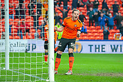 Peter Pawlett (#50 of Dundee United FC celebrates a goal during the William Hill Scottish Cup quarter final match between Dundee United and Inverness CT at Tannadice Park, Dundee, Scotland on 3 March 2019.