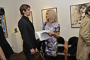 JESSE WOOD; FEARNE COTTON, Faces, Time and Places. Symbolic Collection & Ronnie Wood private view, Cork St. London. 8 November 2011.<br /> <br /> <br />  , -DO NOT ARCHIVE-© Copyright Photograph by Dafydd Jones. 248 Clapham Rd. London SW9 0PZ. Tel 0207 820 0771. www.dafjones.com.