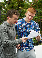 16/08/2017 Conor Bleahene from Ballinasloe who got 590 and plans to do medicine in NUI,Galway  and  Michael O'Dowd from Oranmore who got 543 and hopes to do medicine in NUI,Galway.  Photo:Andrew Downes, xposure .