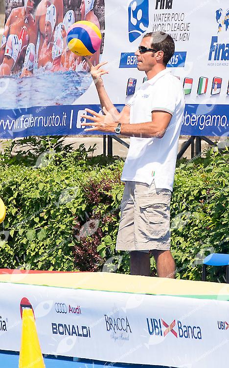 Francesco Postiglione<br /> Brazil BRA (white) - Australia AUS (green)<br /> day 04 - 26/06/2015<br /> FINA Water Polo World League Superfinal Men<br /> Bergamo (ITA) 23-28 June 2015<br /> Photo G.Scala/Deepbluemedia