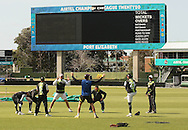 The Warriors team stretch during the Warriors training session held at St Georges Park in Port Elizabeth on the 16 September 2010..Photo by: Shaun Roy/SPORTZPICS/CLT20