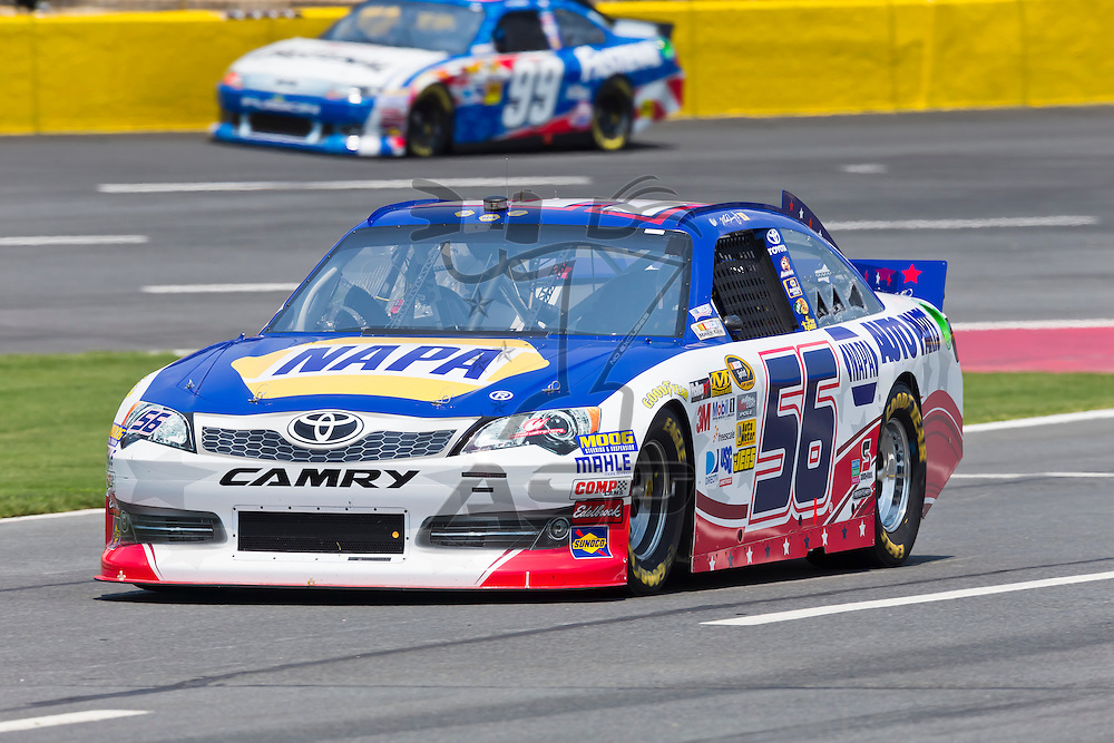CONCORD, NC - MAY 26, 2012:  Martin Truex, Jr. (56) brings his NAPA Toyota on the track for a practice session for the Coca-Cola 600 at the Charlotte Motor Speedway in Concord, NC.