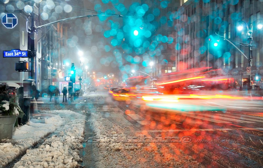 Winter in Manhattan.