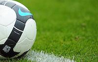 FUSSBALL  1. BUNDESLIGA   SAISON 2009/2010   1. SPIELTAG SV Werder Bremen - Eintracht Frankfurt              08.08.2009 Symbolbild Fussball: Ball liegt auf der Linie