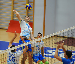 Danijel Koncilija of Slovenia during friendly volleyball match between National teams of Serbia and Slovenia, on August 18, 2017, in Belgrade, Serbia. Photo by Nebojsa Parausic / MN press / Sportida