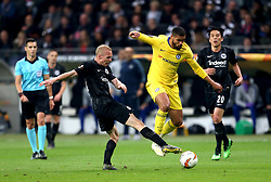 Eintracht Frankfurt's Sebastian Rode and Chelsea's Ruben Loftus-Cheek (second right) battle for the ball during the UEFA Europa League Semi final, first leg match at The Frankfurt Stadion, Frankfurt.