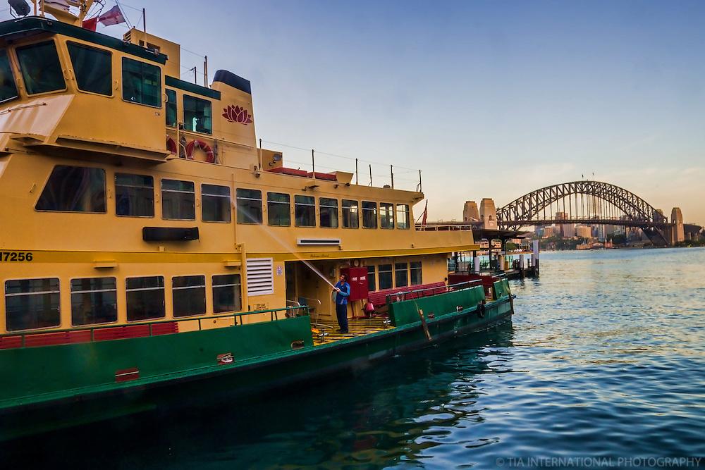 Daily Wash of Sydney Ferries, Circular Quay