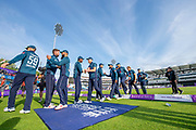 Picture by Allan McKenzie/SWpix.com - 19/05/2019 - Sport - Cricket - 5th Royal London One Day International - England v Pakistan - Emerald Headingley Cricket Ground, Leeds, England - England celebrate victory over Pakistan.