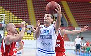 DESCRIZIONE : Skopje torneo internazionale Italia - Polonia<br /> GIOCATORE : Andrea Cinciarini<br /> CATEGORIA : nazionale maschile senior A <br /> GARA : Skopje torneo internazionale Italia - Polonia <br /> DATA : 27/07/2014 <br /> AUTORE : Agenzia Ciamillo-Castoria