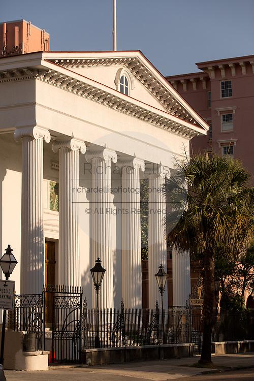 Hibernian Hall along Meeting Street in Charleston, SC.