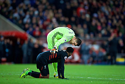 SUNDERLAND, ENGLAND - Monday, January 2, 2017: Liverpool's Daniel Sturridge goes down with an injury during the FA Premier League match against Sunderland at the Stadium of Light. (Pic by David Rawcliffe/Propaganda)