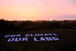 UK ENGLAND SIPSON 12JAN09 - Plot of land in the village of Sipson bought by Greenpeace coalition opposing the Heathrow Third Runway expansion plans...jre/Photo by Jiri Rezac / GREENPEACE