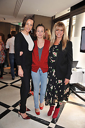 Left to right, JULIA BRANGSTRUP, LEAH WOOD and JO WOOD at a lunch to launch Cash & Rocket on Tour 2013 hosted by Julia Brangstrup in aid of Orpan Aid and Shine on Sierrra Leone held at Banca, 40 North Audley Street, London on 29th April 2013.