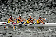 Ottensheim, AUSTRIA.   AUS JM4X, Bow Thomas COX, Jonathan TROVAS, Christopher ANDERSON and Scott LAIDLER Repechage starts,  at the, 2008 FISA Senior and Junior Rowing Championships,  Linz/Ottensheim. Thursday,  24/07/2008.  [Mandatory Credit: Peter SPURRIER, Intersport Images] Rowing Course: Linz/ Ottensheim, Austria