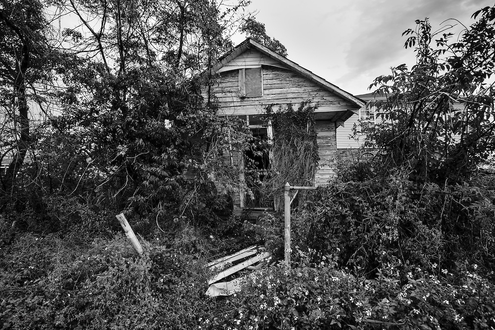 Blighted home in New Orleans almost eight years after Hurricane Katrina in the 9th Ward.