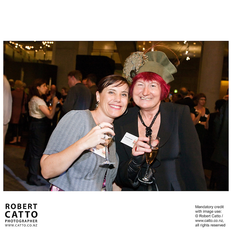 Writers and readers mingle at a reception after the Gala Opening of NZ Post Writers & Readers Week, during the New Zealand International Arts Festival 2008 in Wellington.