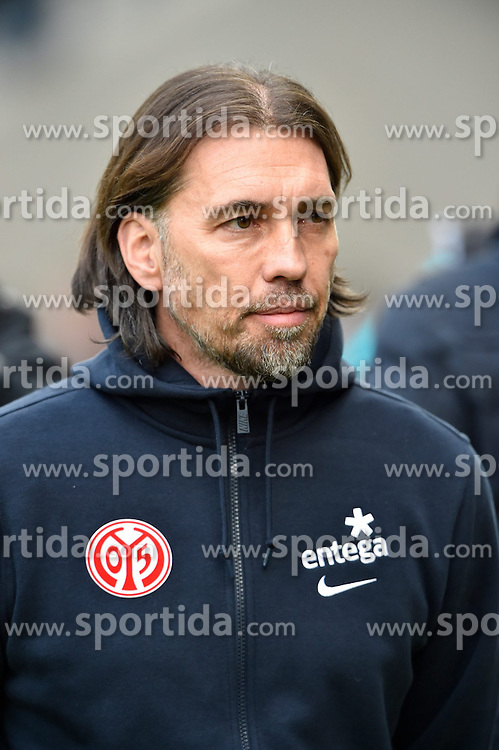 28.02.2015, Rhein Neckar Arena, Sinsheim, GER, 1. FBL, TSG 1899 Hoffenheim vs 1. FSV Mainz 05, 23. Runde, im Bild Trainer Coach Martin Schmidt 1. FSV Mainz 05 Portrait Portraet // during the German Bundesliga 23rd round match between TSG 1899 Hoffenheim and 1. FSV Mainz 05 at the Rhein Neckar Arena in Sinsheim, Germany on 2015/02/28. EXPA Pictures &copy; 2015, PhotoCredit: EXPA/ Eibner-Pressefoto/ Weber<br /> <br /> *****ATTENTION - OUT of GER*****