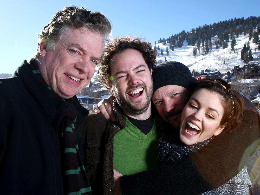Actor Christopher McDonald, director Drake Doremus, actor Matthew Lillard and actress Nora Zehetner photographed during the 2009 Sundance Film Festival