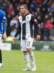 St Mirren Simeon Jackson    during the Ladbrokes Scottish Premier League match at St Mirren Park, St Mirren.