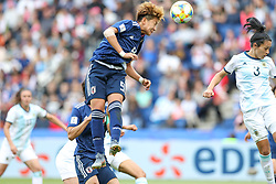 June 10, 2019: Paris, France: Sugasawa  of Japan during match against Argentina game valid for group D of the first phase of the Women's Soccer World Cup in the Parc Des Princes in Paris in France on Monday, 10. (Credit Image: © Vanessa Carvalho/ZUMA Wire)