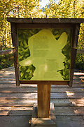 Interpretive sign at Cave and Basin National Historic Site, Banff National Park, Alberta, Canada