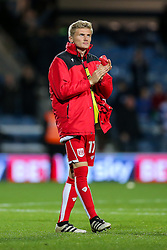 Taylor Moore of Bristol City looks dejected after they lose 1-0 - Rogan Thomson/JMP - 18/10/2016 - FOOTBALL - Loftus Road Stadium - London, England - Queens Park Rangers v Bristol City - Sky Bet EFL Championship.