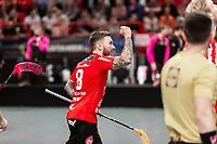 2019-04-27 |Stockholm | Storvreta (8) Jimmie Pettersson during the game between Storvreta IBK and IBF Falun at Ericsson Globe Arena. (Photo by Daniel Carlstedt | Swe Press Photo).