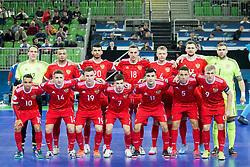 Team Russia during futsal match between Russia and Poland at Day 1 of UEFA Futsal EURO 2018, on January 30, 2018 in Arena Stozice, Ljubljana, Slovenia. Photo by Ziga Zupan / Sportida